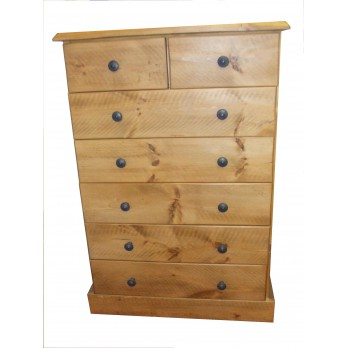 Rough Sawn 2 over 5 Chest of Drawers