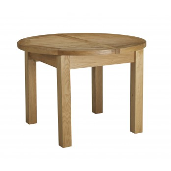 Eleanor Oak Round Extending Table