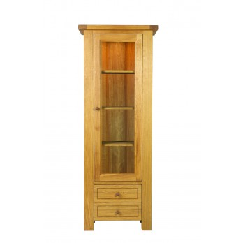 Eleanor Oak Glass Display Unit