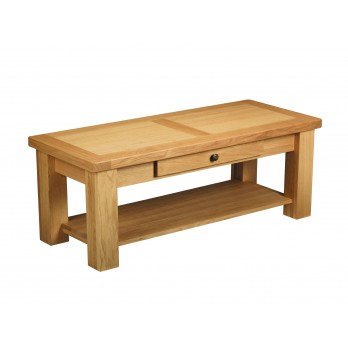 Eleanor Oak Coffee Table with Drawer