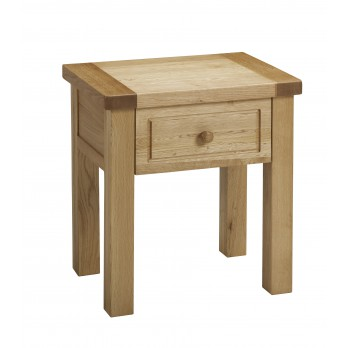 Eleanor Oak Lamp Table with Drawer