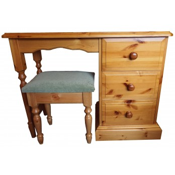 Derby Single Dressing Table with Stool