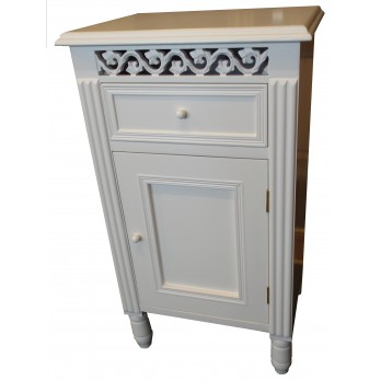 Snowdrop 1 Drawer / Door Cupboard