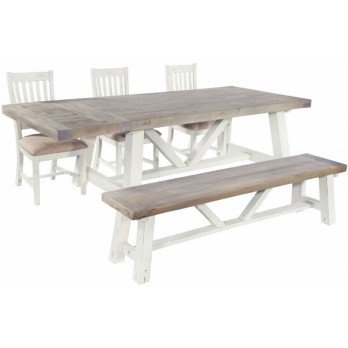 SALTY BAY Dining Table with optional Leaves