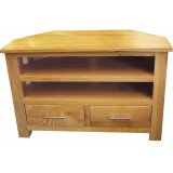 Oak Corner TV Unit Small