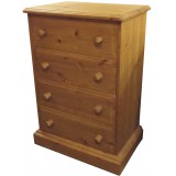 Derby 4 Drawer Wellington Chest