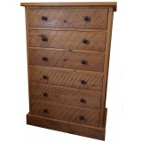 Rough Sawn 6 Drawer Chest