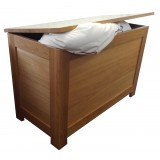 SJ Oak Blanket Box
