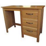 SJ Oak  Single Pedestal Dressing Table