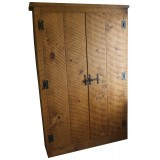 Rough Sawn Double Wardrobe
