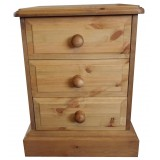 Derby 3 Drawer Bedside Chest