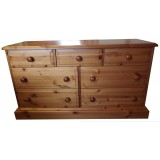 Derby 7 Drawer Wide Chest, click to see more height options