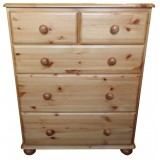 Julie Pine 5 Drawer Combination Chest