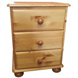 Julie pine 3 Drawer Bedside