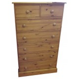 Cottage Pine 2 over 5 Chest of Drawers