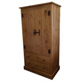 Rough Sawn Wardrobe with Drawers
