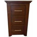 Pakefield 3 Drawer Bedside
