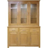 Oak Glazed Dresser 3 Bay