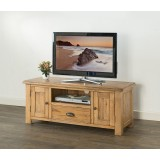 Hartley Solid Oak Wide TV Unit