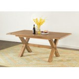 Hartley Solid Oak Cross Leg Table