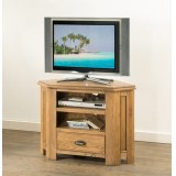 Hartley Solid Oak Corner TV