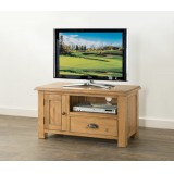Hartley Solid Oak Small TV unit