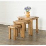 Hartley Solid Oak Nest of Tables
